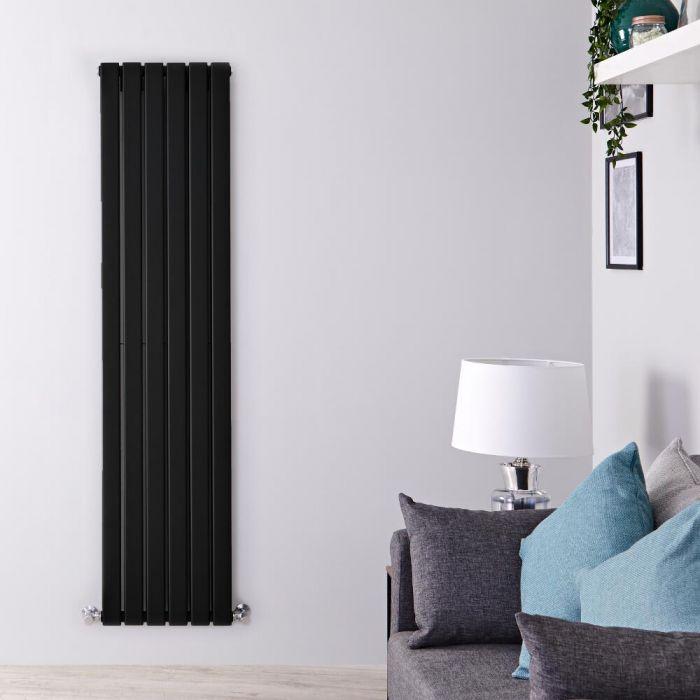 Radiateur Design Vertical Noir Delta 160cm x 42cm x 6cm 1323 Watts