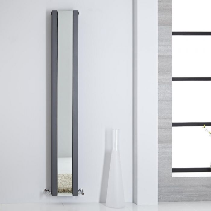 Radiateur miroir anthracite Sloane 180x26.5cm 901 watts