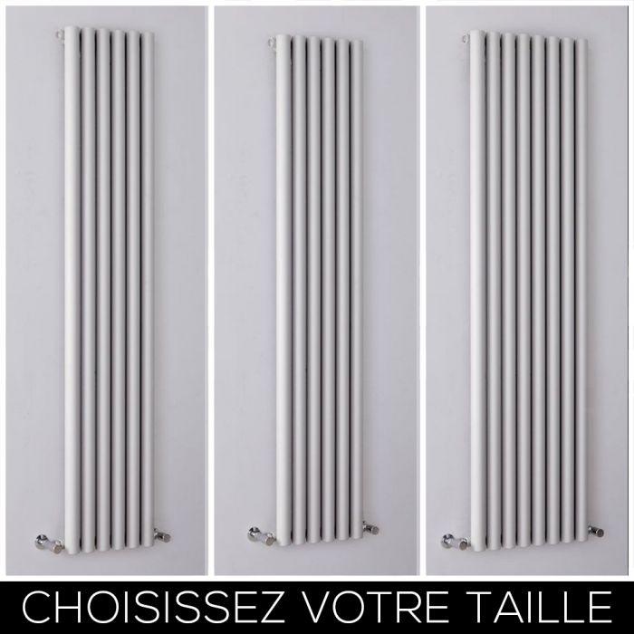 Radiateur design vertical – Argenté – Tailles multiples – Savy