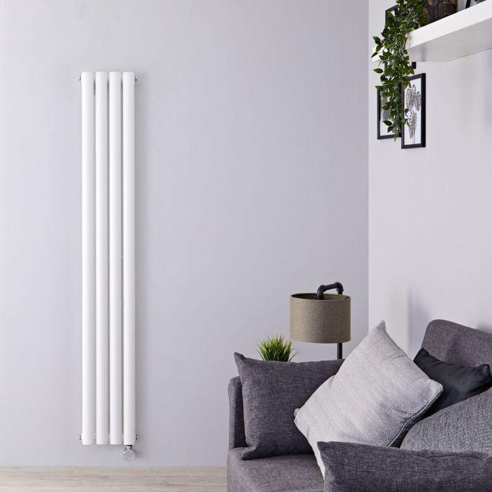 Radiateur design vertical électrique - Blanc – 160 cm x 23,6 cm x 5,6 cm - Vitality