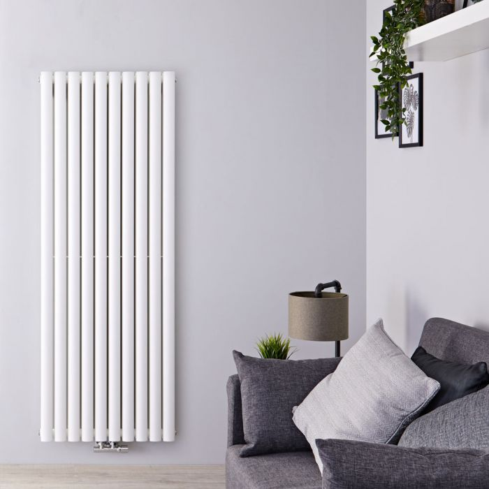 Radiateur design vertical – Blanc – 160 cm x 59 cm – Double rangs – Vitality Caldae