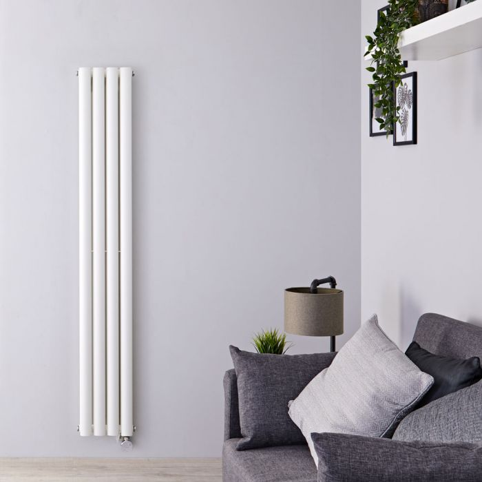Radiateur design électrique vertical - Blanc – 160 cm x 23,6 cm x 7,8 cm - Vitality
