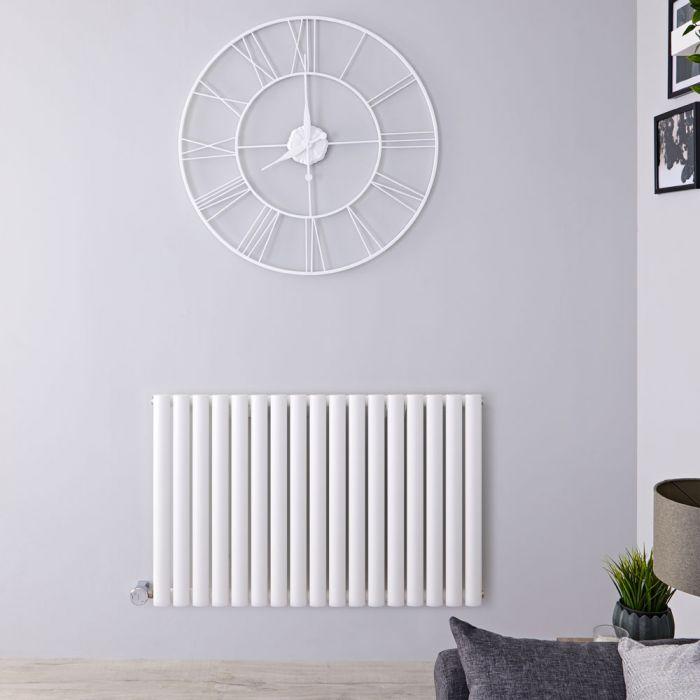 Radiateur design électrique horizontal - Blanc - 63,5cm x 100cm x 5,5cm - Vitality