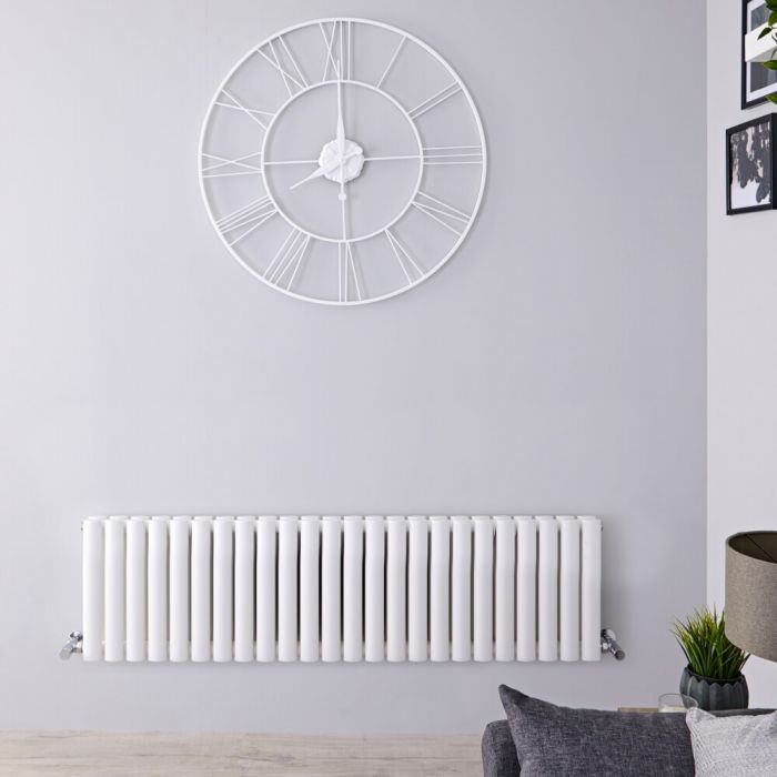 Radiateur design horizontal - Blanc - 40 cm x 141,6 cm x 7,8 cm - Vitality