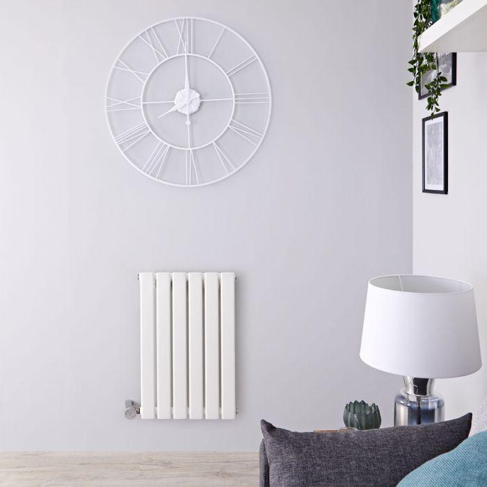 Radiateur design électrique horizontal - Blanc - 63,5 cm x 42 cm x 4,6 cm - Delta