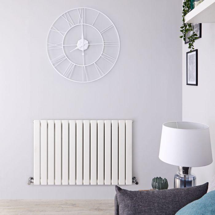 Radiateur Design Horizontal Blanc Delta 63,5cm x 98cm x 4,6cm 876 Watts