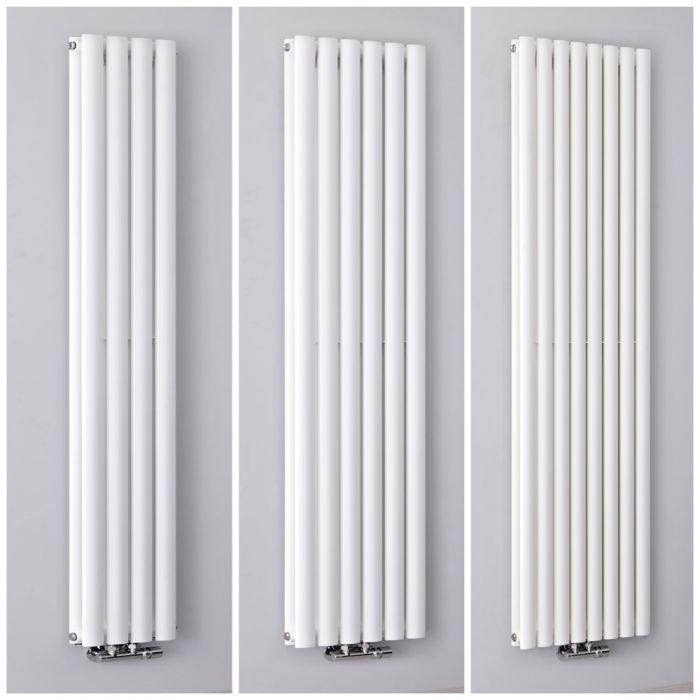 Radiateur design vertical – Raccordement central – Blanc – Choix de tailles – Vitality Caldae