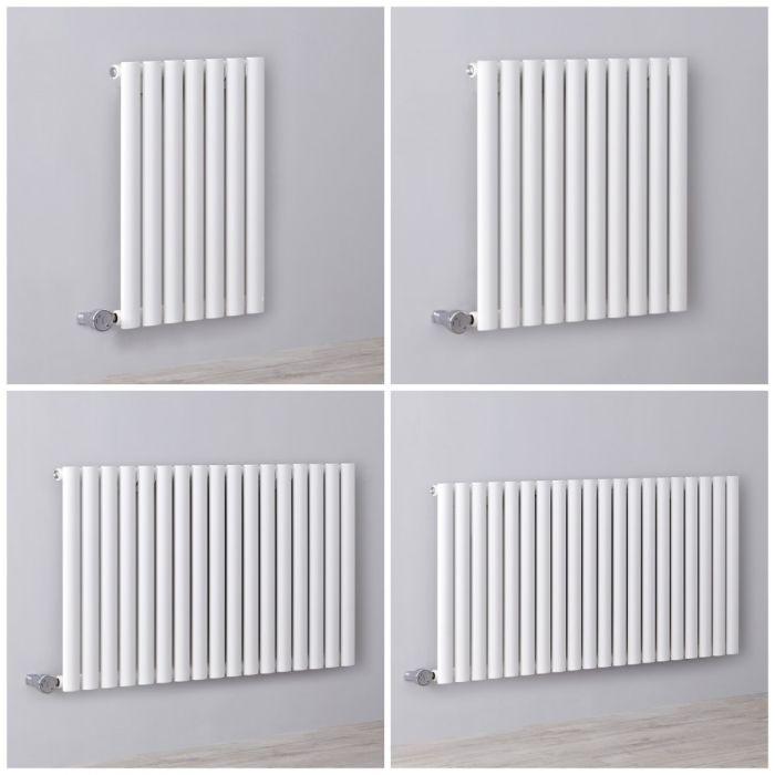 Radiateur design électrique horizontal – Blanc – 63,5 cm – Choix de tailles - Vitality