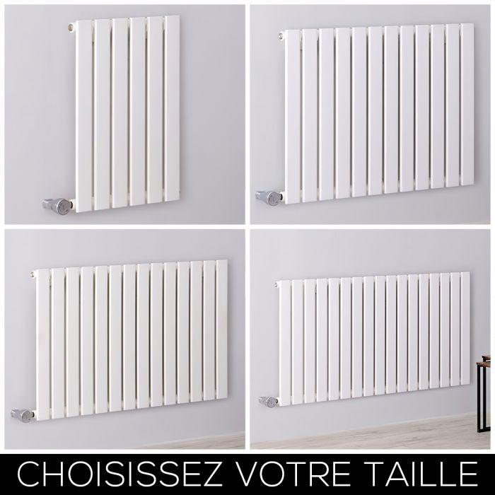 Radiateur design électrique horizontal – 63,5 cm – Blanc – Tailles multiples - Delta