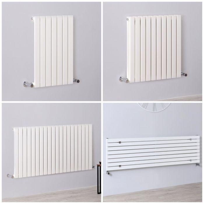 Radiateur design horizontal – Colonnes Plates – Blanc – Tailles multiples – Sloane