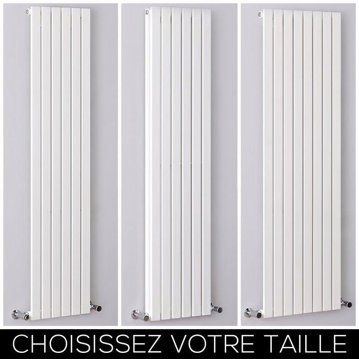 Radiateur design vertical – Colonnes Plates – Blanc – Tailles multiples – Sloane