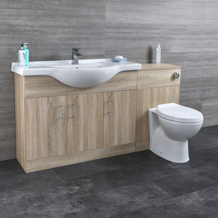Meuble-lavabo & Toilette WC 106x78x48cm Classic Oak