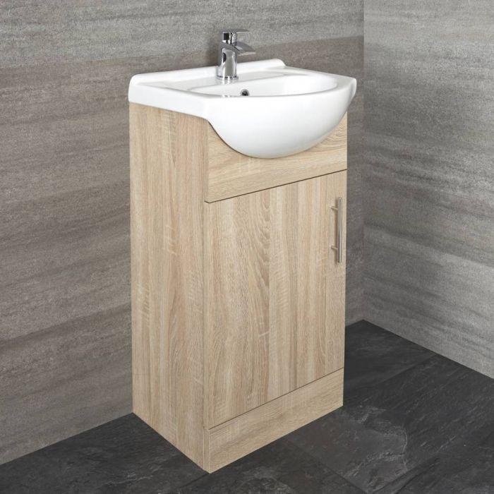 Meuble lavabo à poser – 45,5 cm – Effet chêne – Classic Oak