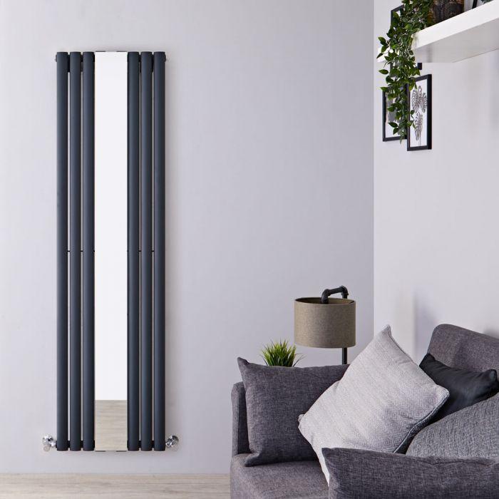 Radiateur Design Vertical Anthracite Vitality 180cm x 49,9cm x 5,5cm 1030 Watts