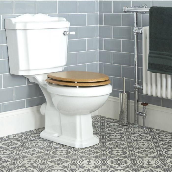 WC avec réservoir intégré et abattant effet chêne  - Legend