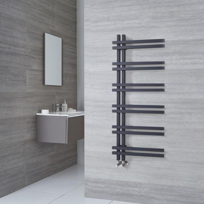 Sèche-serviettes design aluminium – Anthracite – 120 cm x 50 cm - Tika