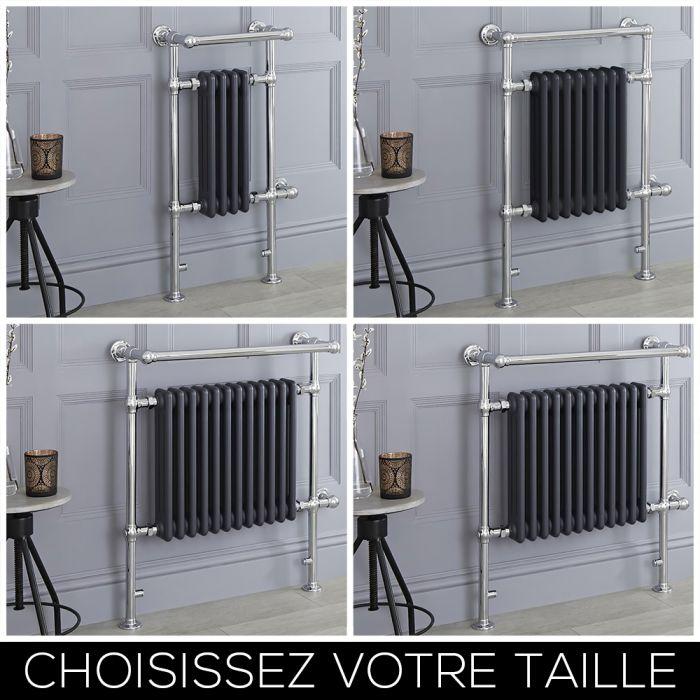 Sèche-serviettes électrique rétro – Anthracite – Choix de tailles - Elizabeth