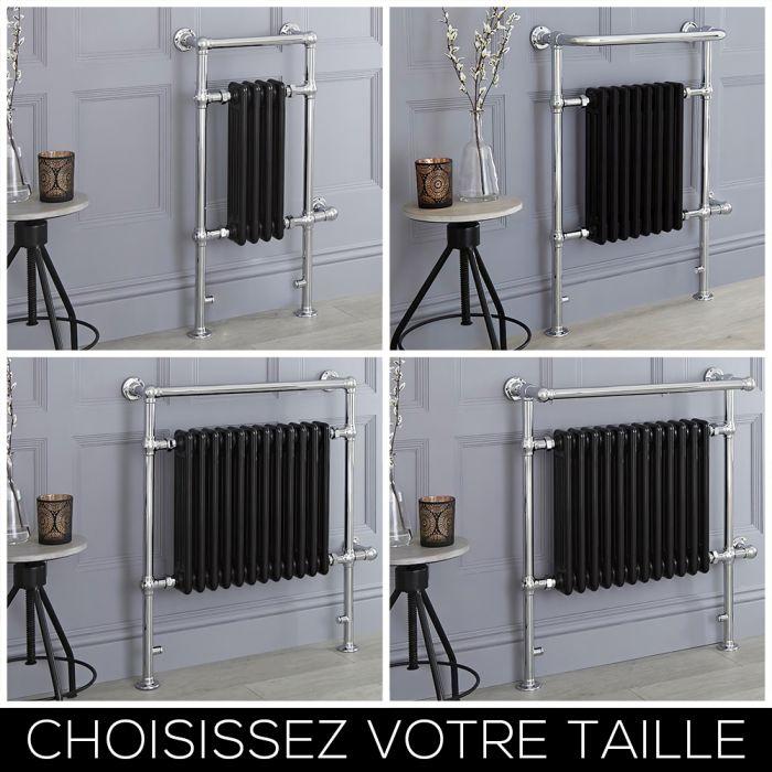 Sèche-serviettes électrique rétro – Noir – Choix de tailles - Elizabeth