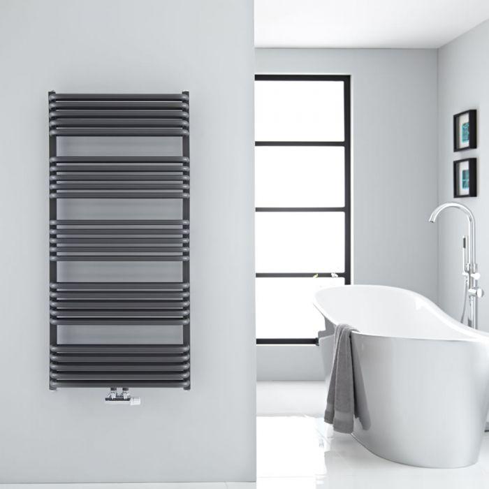 Sèche-serviettes eau chaude - Anthracite - 126,9 x 60 cm - Arch