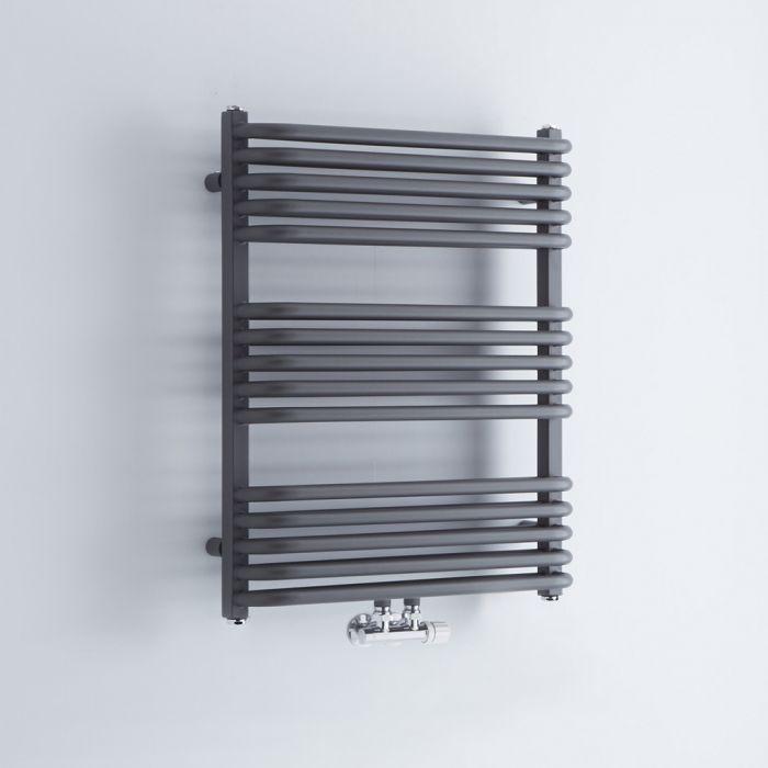 Sèche-serviettes eau chaude - Anthracite - 73,6 x 60 cm - Arch