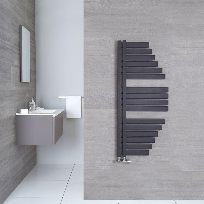 Sèche-serviettes design - Anthracite 146 cm x 54,7 cm - Lazio