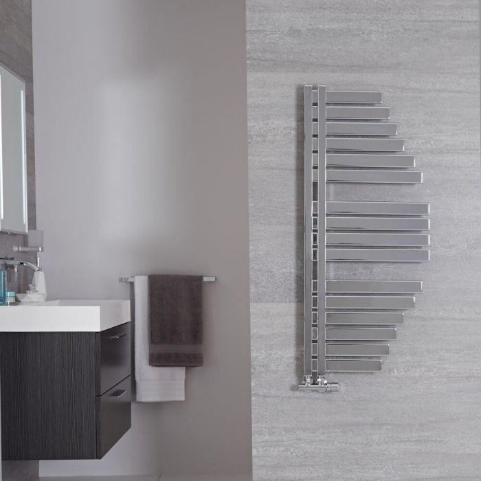 Sèche-serviettes design - Chromé – 100 cm x 48,3 cm – Lazio