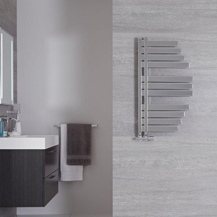 Sèche-serviettes design - Chromé – 80 cm x 46,3 cm - Lazio