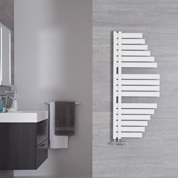 Sèche-serviettes design - Blanc minéral – 110 cm x 48,3 cm - Lazio