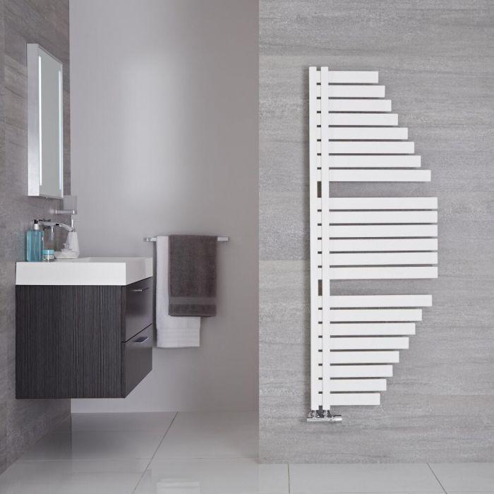 Sèche-serviettes design – Blanc minéral – 146 cm x 54,7 cm - Lazio