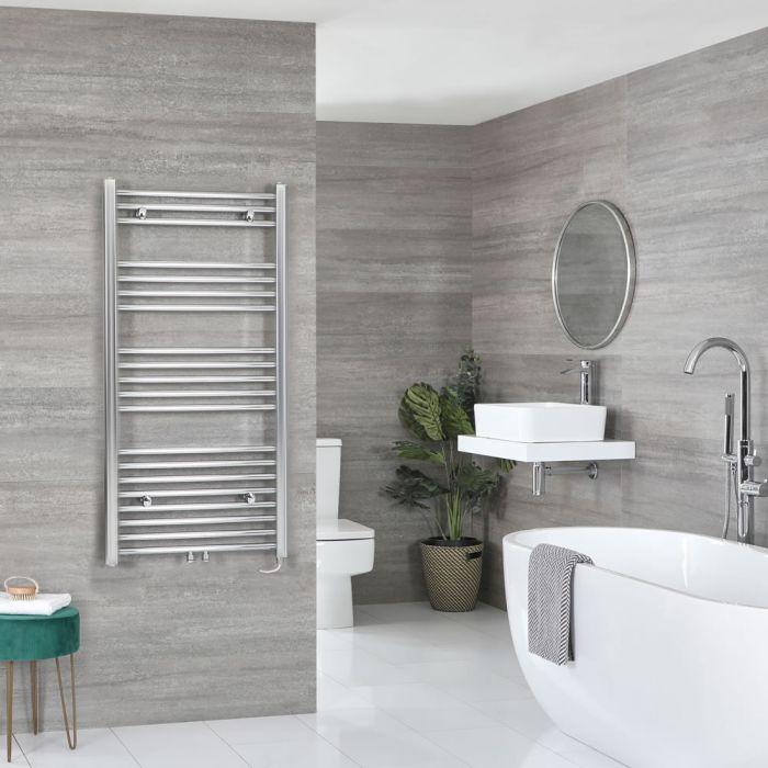Sèche-serviettes électrique – Chromé – 118,8 cm x 50 cm - Neva