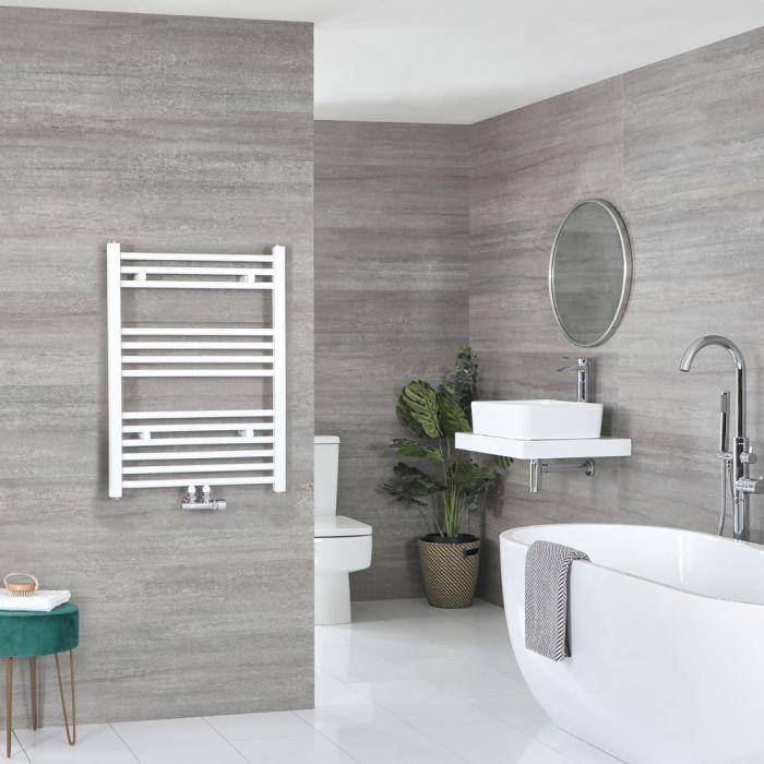 Sèche-serviettes à raccordement central – Blanc – 80,3 x 50 cm - Neva