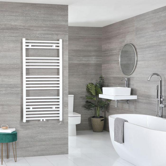 Sèche-serviettes électrique – Blanc – 118,8 cm x 60 cm - Neva