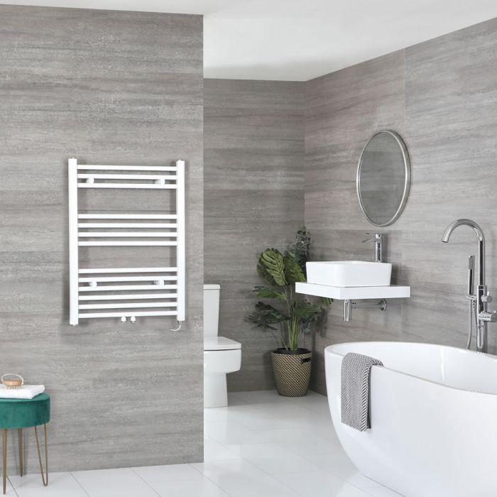 Sèche-serviettes électrique – Blanc – 80,3 cm x 60 cm - Neva
