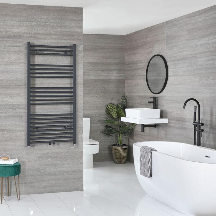 Sèche-serviettes électrique – Anthracite – 118,8 cm x 50 cm - Neva