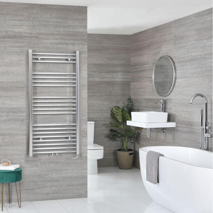 Sèche-serviettes électrique – Chromé – Choix de tailles et élément chauffant – Neva