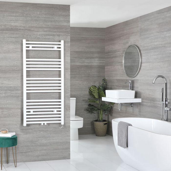 Sèche-serviettes électrique – Blanc – Choix de tailles et élément chauffant – Neva