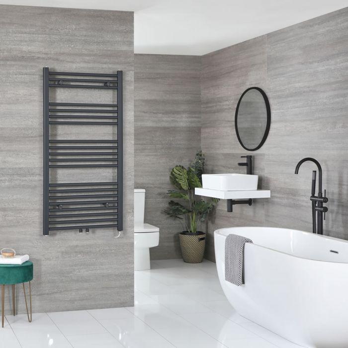 Sèche-serviettes électrique – Anthracite – 118,8 cm x 60 cm - Neva
