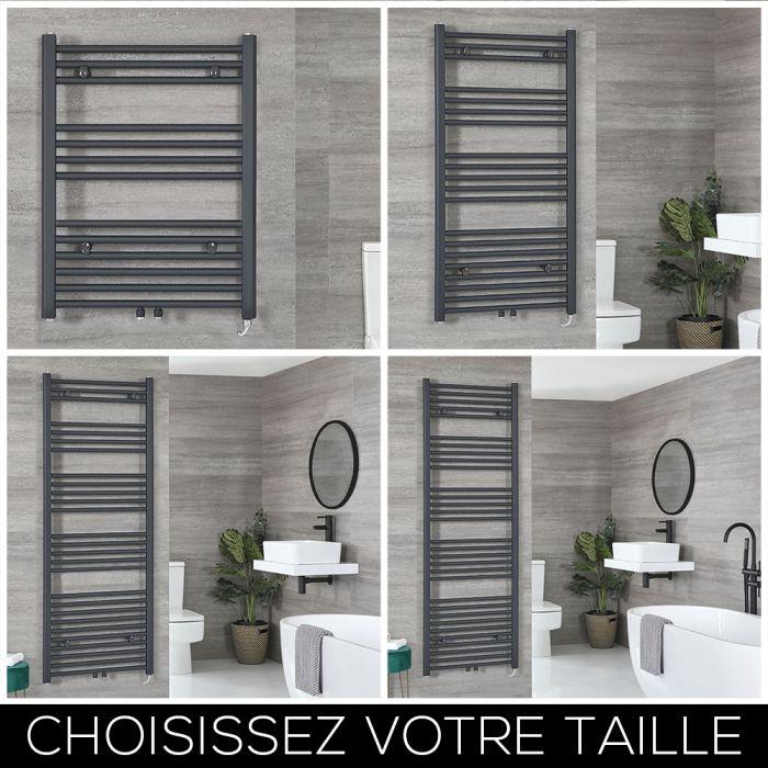 Sèche-serviettes électrique – Anthracite – Choix de tailles et élément chauffant – Neva
