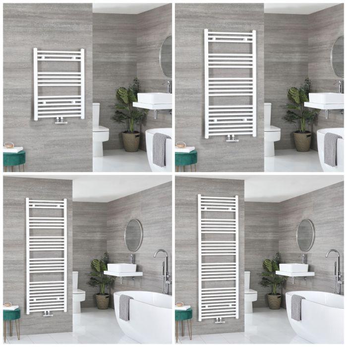 Sèche-serviettes – Raccordement central – Blanc – Choix de tailles – Neva