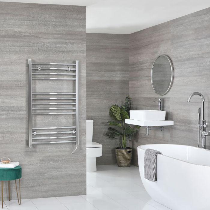Sèche-serviettes électrique incurvé – Chromé – 100 cm x 50 cm - Kent