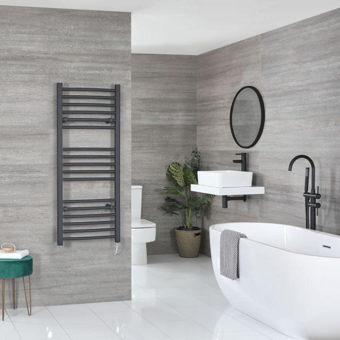 Sèche-serviettes électrique incurvé – Anthracite – 120 cm x 50 cm - Artle