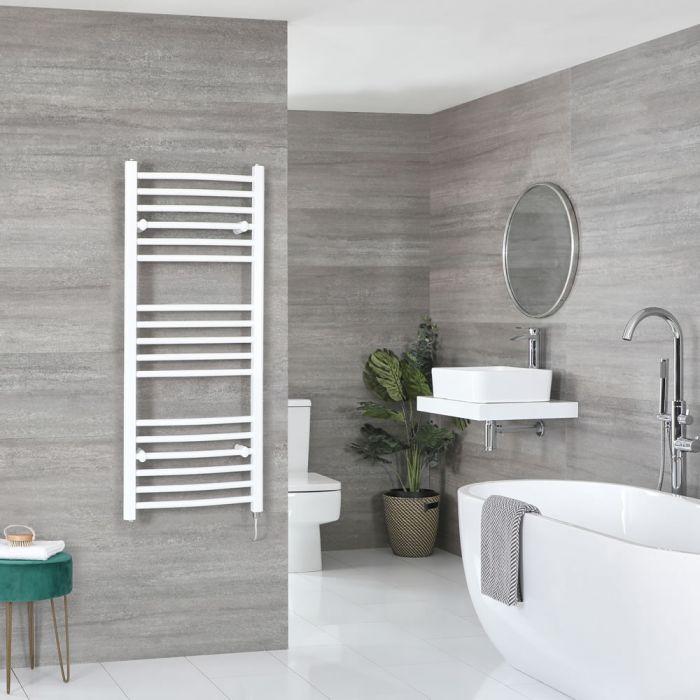 Sèche-serviettes électrique incurvé – Blanc – 120 cm x 50 cm – Ive