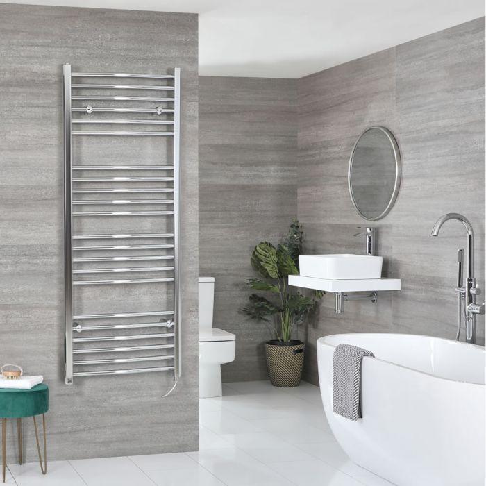 Sèche-serviettes électrique incurvé – Chromé – 160 cm x 50 cm - Kent