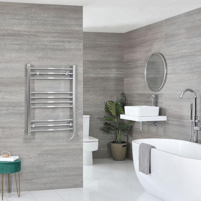 Sèche-serviettes électrique incurvé – Chromé – 80 cm x 60 cm - Kent
