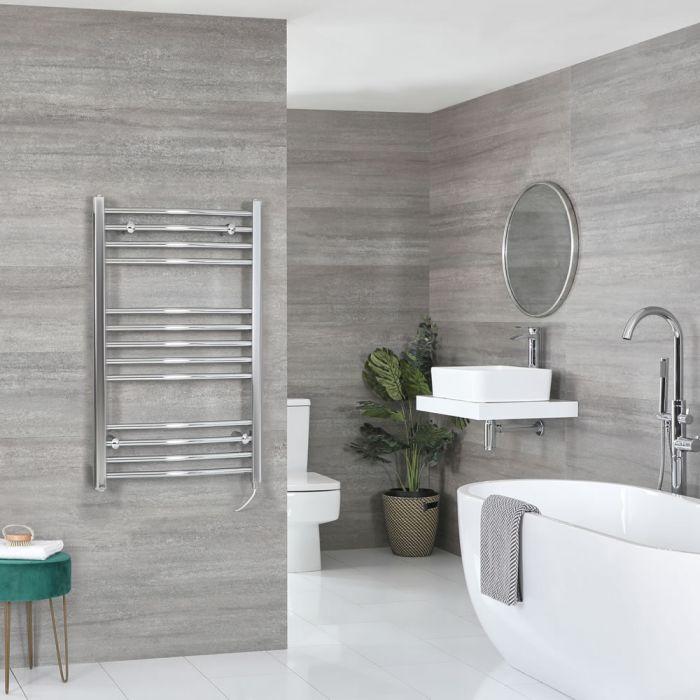 Sèche-serviettes électrique incurvé – Chromé – 100 cm x 60 cm - Kent