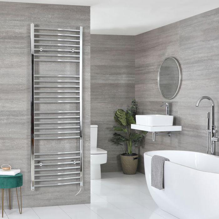 Sèche-serviettes électrique incurvé – Chromé – 180 cm x 60 cm - Kent