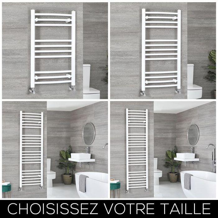 Sèche-serviettes incurvé – Blanc – Choix de tailles - Ive