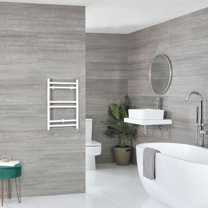 Sèche-serviettes électrique plat – Blanc – 60 cm x 40 cm - Ive