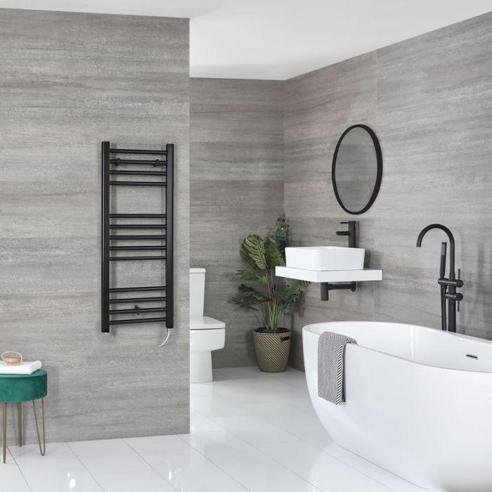 Sèche-serviettes électrique plat – Noir – 100 cm x 40 cm - Nox
