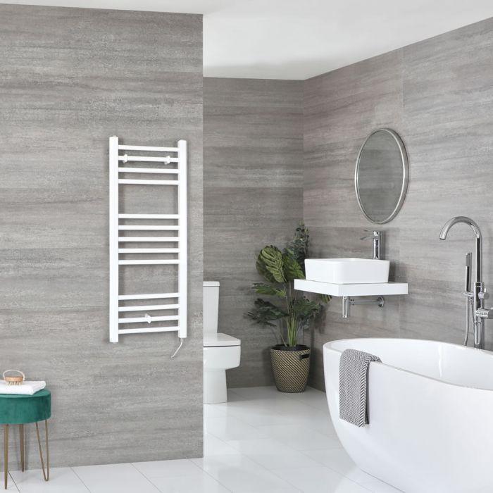 Sèche-serviettes électrique plat – Blanc – 100 cm x 40 cm - Ive